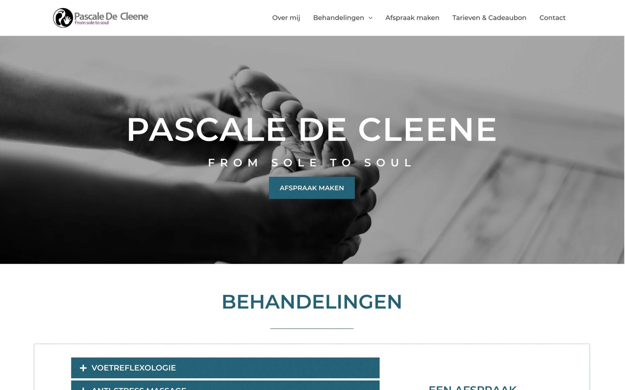 Website Pascale De Cleene